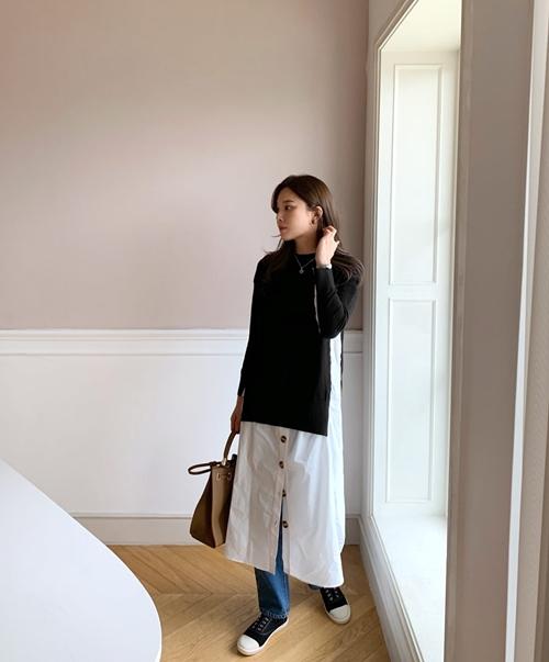 5 cách mặc váy hè siêu chất mùa thu đông - 4