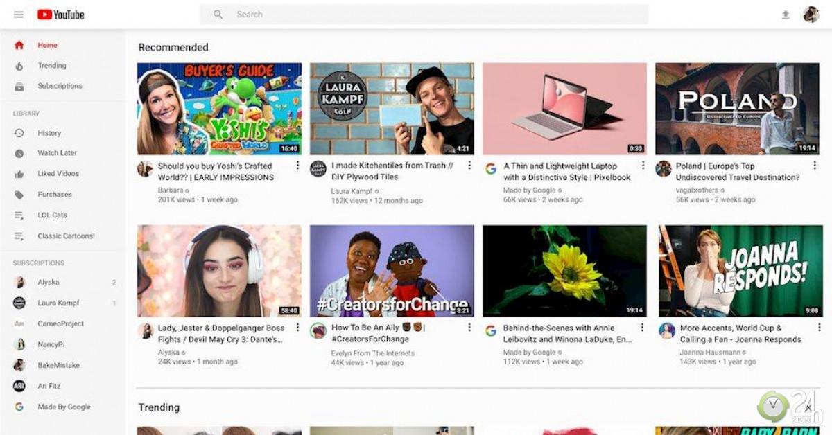 YouTube công bố giao diện mới, nhà sáng tạo nội dung vừa mừng vừa lo-Công nghệ thông tin