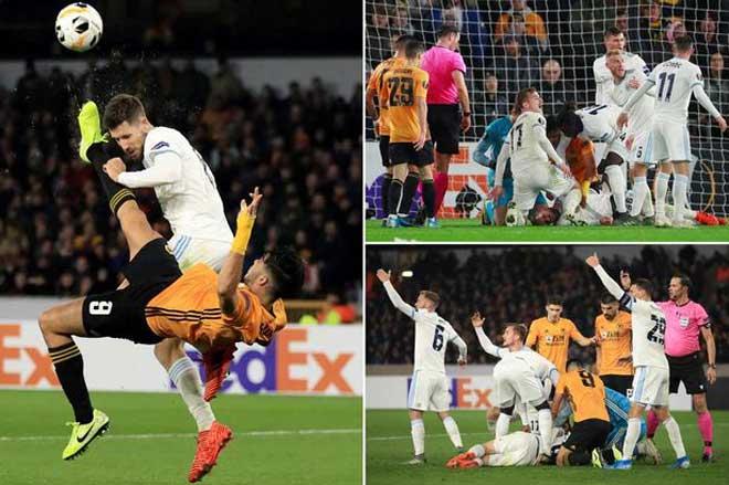 Hốt hoảng Europa League: Sao Ngoại hạng Anh tung cước, đối thủ bất tỉnh trên sân - 3