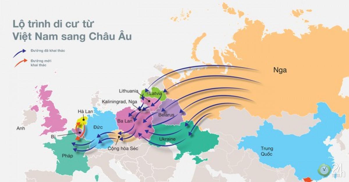 Thâm nhập đường dây đưa người sang châu Âu - Tin tức 24h
