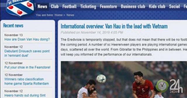 Báo Hà Lan khen Văn Hậu và ĐT Việt Nam: Cơ hội đá đội 1 Heerenveen lại rộng mở