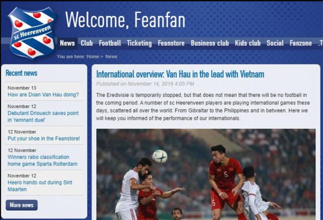 Báo Hà Lan khen Văn Hậu và ĐT Việt Nam: Cơ hội đá đội 1 Heerenveen lại rộng mở - 3