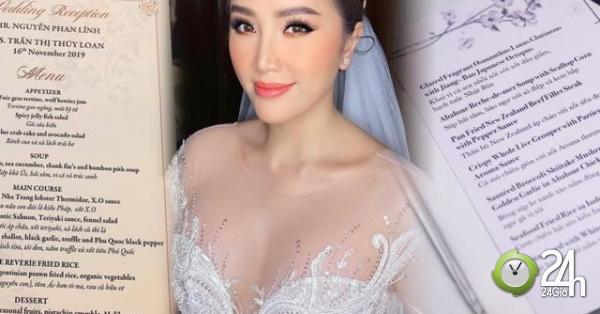 Đám cưới Bảo Thy gây choáng với thực đơn toàn sơn hào hải vị - Giải trí