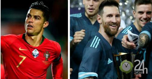 Messi mừng danh hiệu đầu tiên ở ĐTQG: Fan Ronaldo mỉa mai cúp vô giá trị