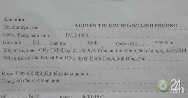 Diễn biến mới nhất vụ xin đổi tên vì quá dài của người phụ nữ ở Nhơn Trạch - Tin tức 24h