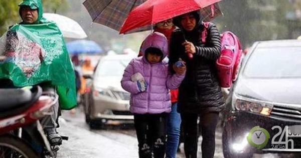 Đầu tuần, miền Bắc chuyển mưa lạnh, miền Nam hửng nắng - Tin tức 24h