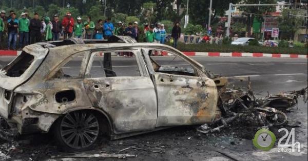 Nhân chứng kể lại diễn biến vụ xe Mercedes GLC 250 bốc cháy - Tin tức 24h