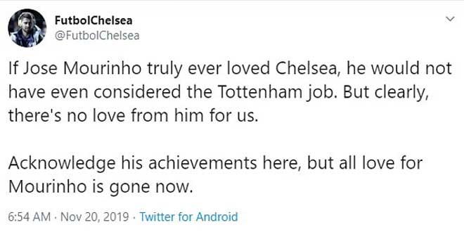 Mourinho khiến CĐV Tottenham mừng lớn, bị fan MU và Chelsea lật mặt nạ giả dối