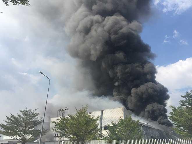 Công ty rộng hàng nghìn mét vuông ở Bình Dương bốc cháy ngùn ngụt - 2