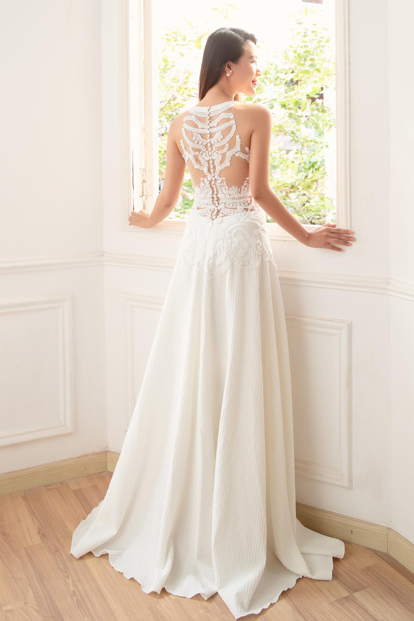 Gợi ý diện váy cưới xuyên thấu đẹp như Minh Hằng - 7