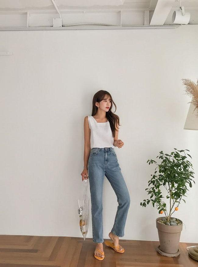Muốn mặc quần jeans cạp cao đẹp mê thì phải biết những mẹo này - 2