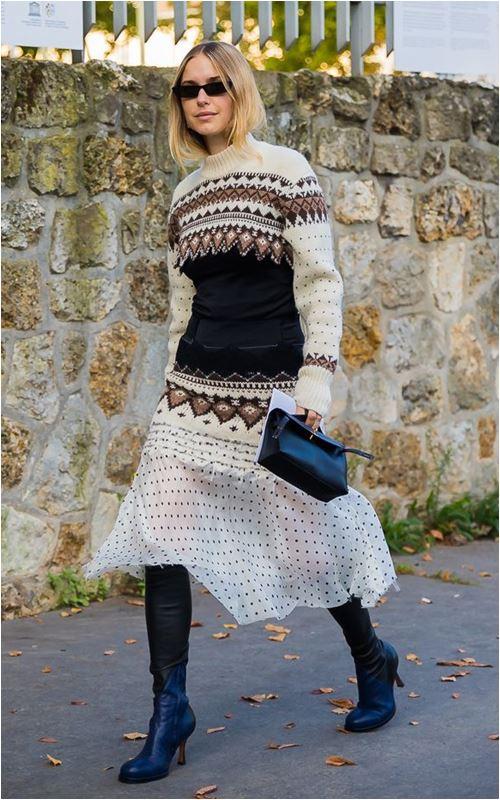 3 cách để trời lạnh co ro vẫn tự tin mặc váy điệu đà - 6
