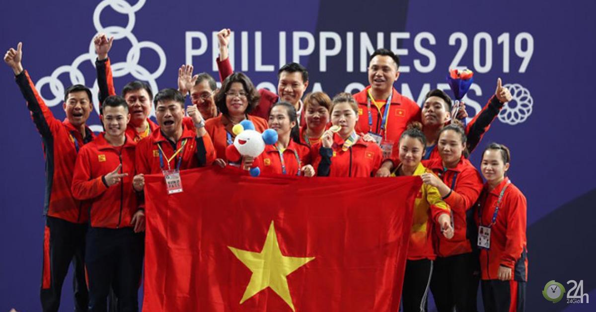 Vang dội: Cử tạ Việt Nam giật 4 HCV lịch sử, làm trùm SEA Games