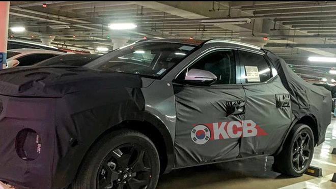 Lộ ảnh xe bán tải của Hyundai chính thức chạy thử trên đường phố - 1