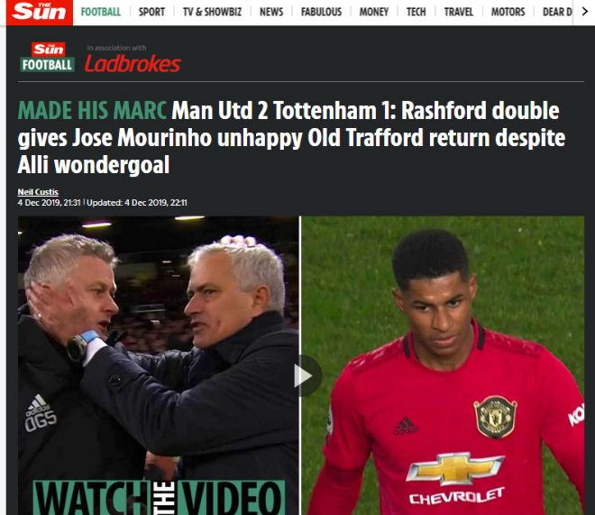 """MU """"lột xác"""" hạ gục Tottenham: Báo Anh kinh ngạc, chê Mourinho mờ nhạt - 2"""