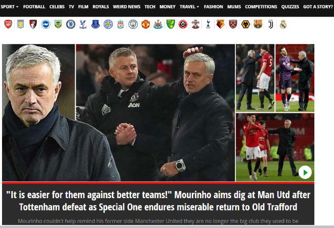 """MU """"lột xác"""" hạ gục Tottenham: Báo Anh kinh ngạc, chê Mourinho mờ nhạt - 1"""