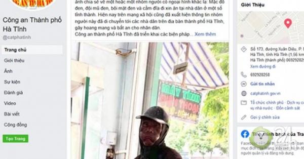 """Bác thông tin nhóm người ăn xin """"mặt đen"""" đến Hà Tĩnh - Tin tức 24h"""