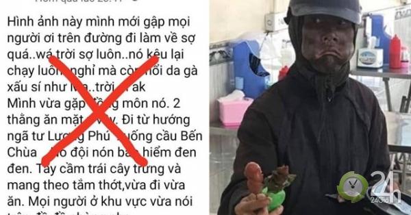 Đăng tin người ăn xin bôi đen mặt về đến Tiền Giang, thanh niên bị công an mời việc - Tin tức 24h