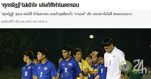 """SAO U22 Thái Lan chữa thẹn bị Việt Nam loại: """"SEA Games chỉ đá cho vui""""-Bóng đá 24h"""