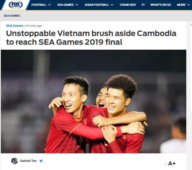 """U22 Việt Nam vào chung kết: Báo Thái vị nể, báo châu Á khen """"không thể ngăn chặn"""" - 1"""