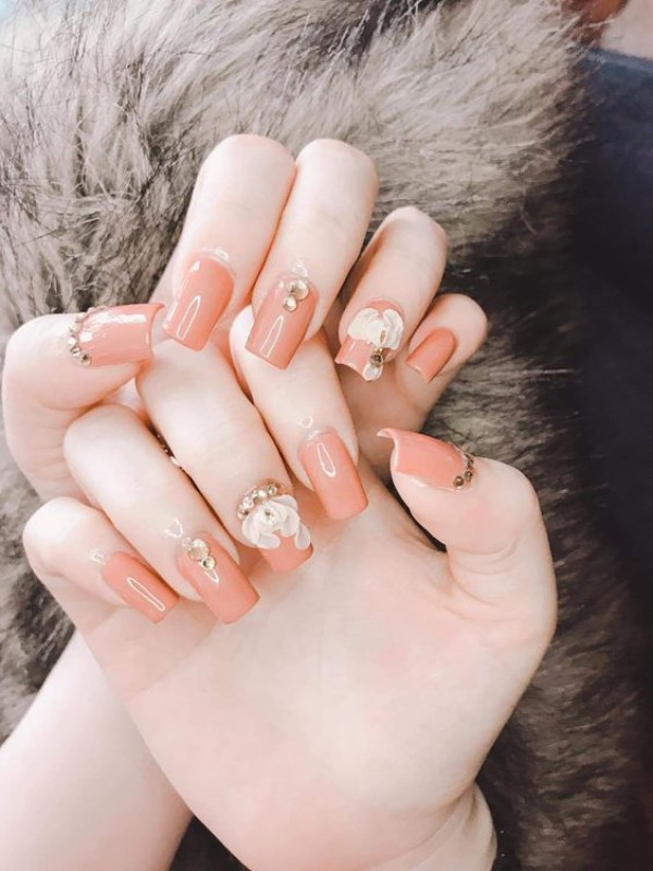 Những mẫu nail xinh đơn giản nhẹ nhàng hot nhất hiện nay - 11