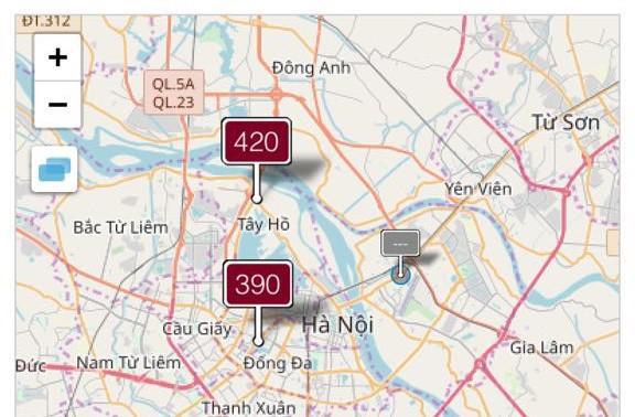 """Không khí tại Hà Nội ở ngưỡng """"rất có hại cho sức khỏe mọi người"""" - 1"""