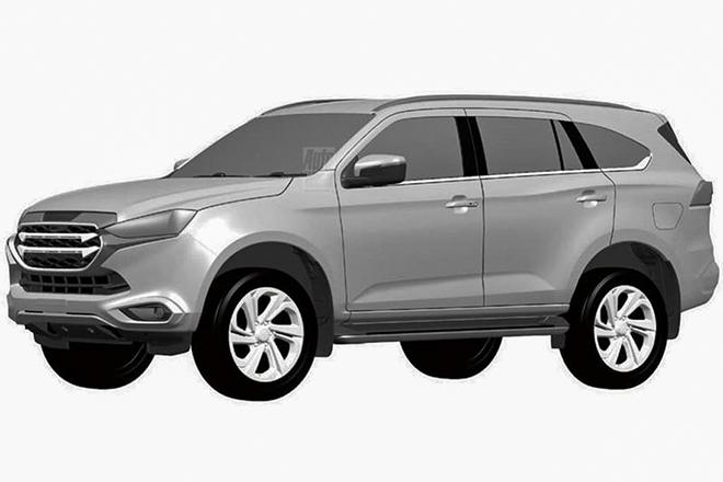 Xe SUV Isuzu mu-X thế hệ mới lộ ảnh thiết kế cực ngầu
