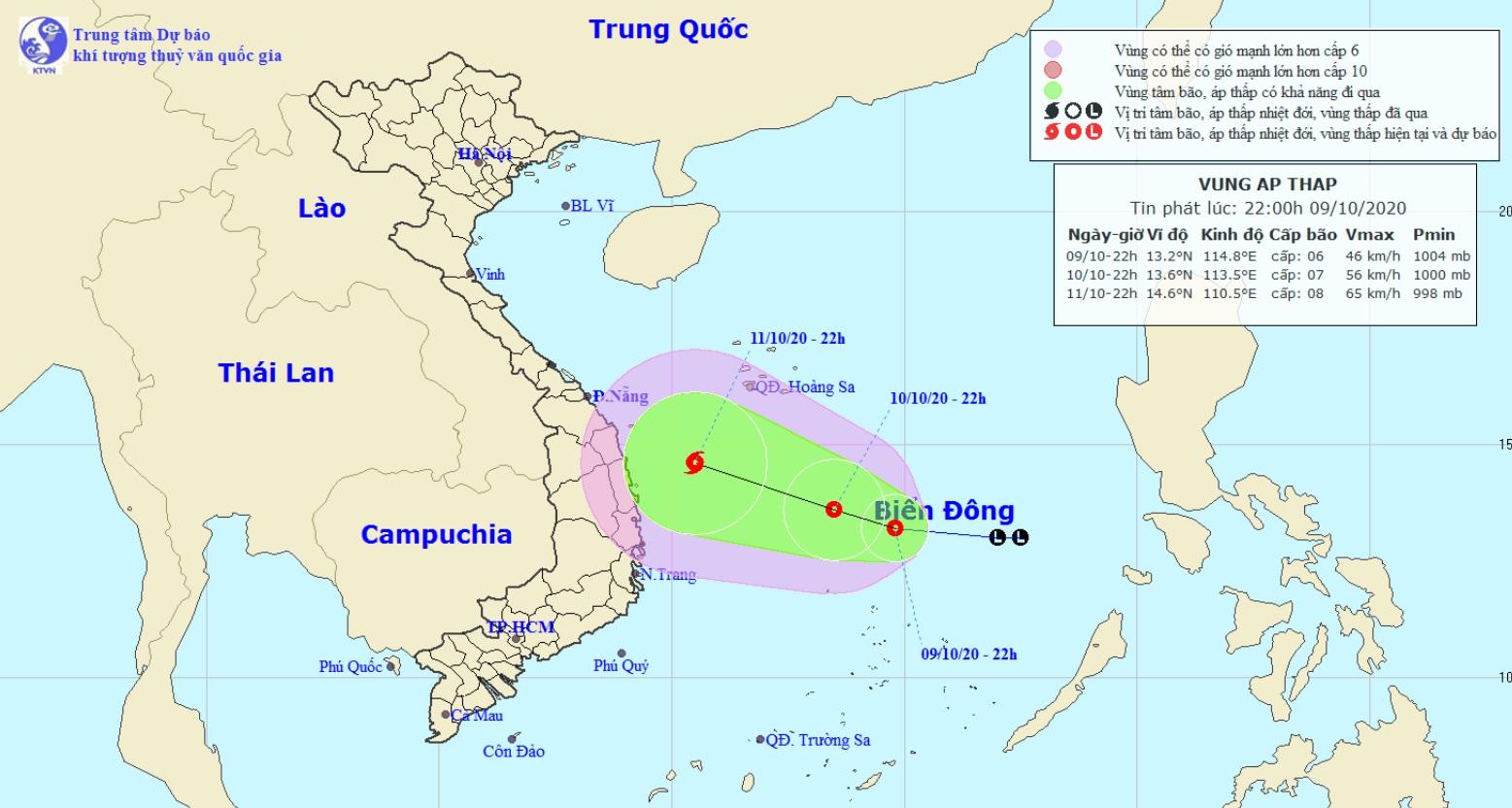 Áp thấp mạnh lên thành áp thấp nhiệt đới, miền Trung sắp lũ chồng lũ - 1