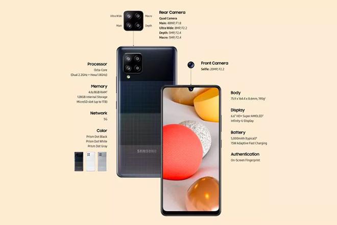 Galaxy A42 5G ra mắt, giá 10,5 triệu đồng - 1