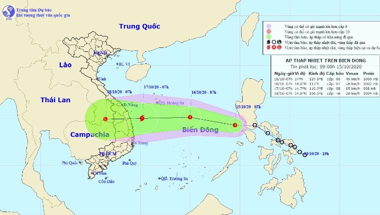 Áp thấp nhiệt đới đã vào Biển Đông, khả năng mạnh thành bão số 8 - 1