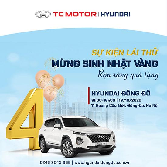 """""""Lái thử mừng sinh nhật vàng – rộn ràng quà tặng"""" tại Hyundai Đông Đô - 3"""