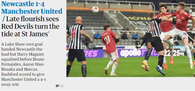 MU ngược dòng thắng đậm: Báo Anh khen tưng bừng, tiêu điểm Maguire - Fernandes - 3