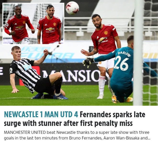 MU ngược dòng thắng đậm: Báo Anh khen tưng bừng, tiêu điểm Maguire - Fernandes - 2