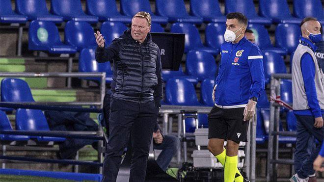 Messi bị chơi xấu gây bức xúc, Koeman tức giận với cầu thủ Getafe - 2