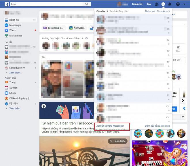 Mách bạn cách lấy lại tin nhắn đã xóa trên Facebook - 2