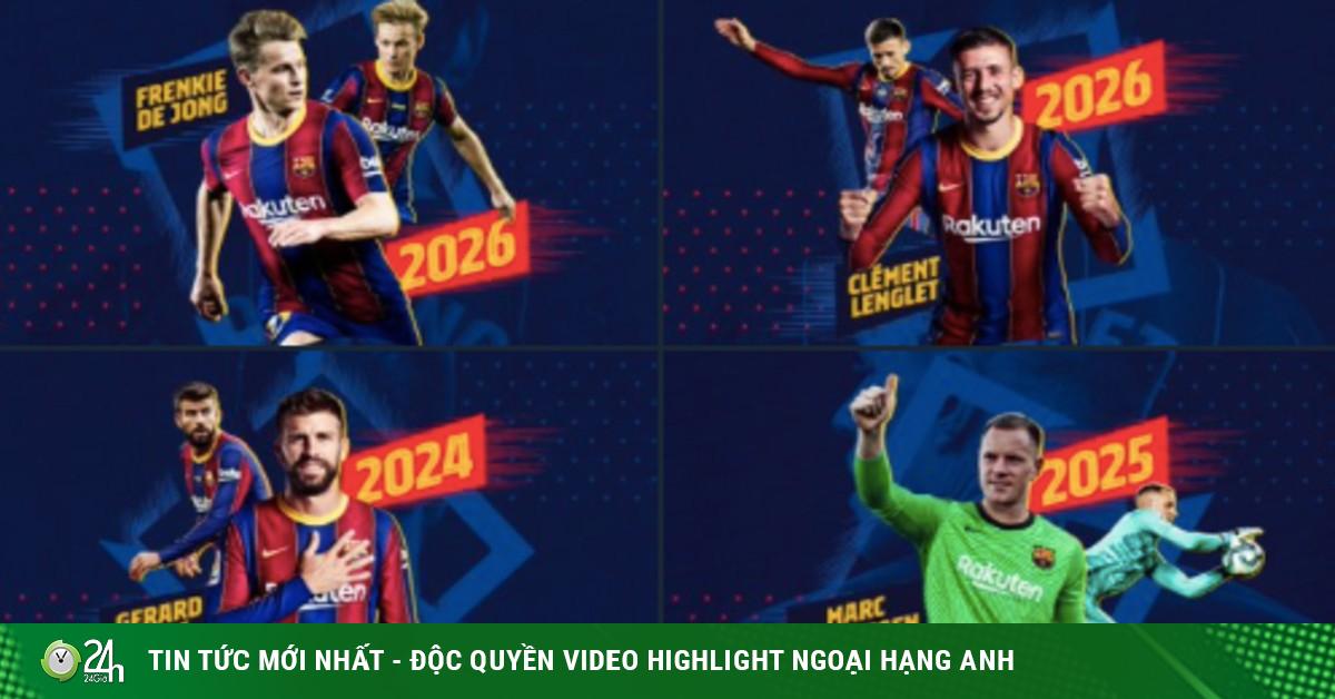 Barca thắng hủy diệt, công bố 4 bản hợp đồng 1,7 tỷ euro choáng váng