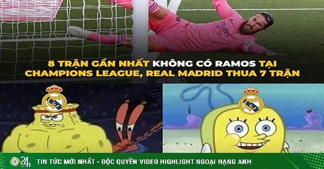 Ảnh chế: Vắng Ramos, Real Madrid chuyển sang tấu hài tại cúp C1