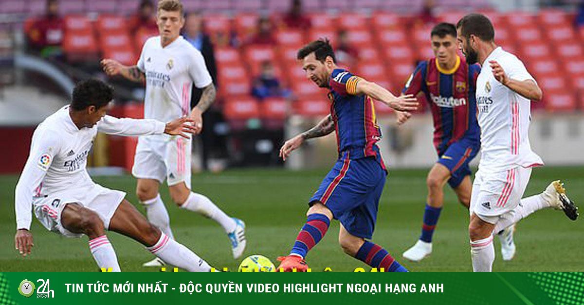 Video highlight trận Barcelona - Real Madrid: Phủ đầu choáng váng, người hùng bất ngờ (H1)