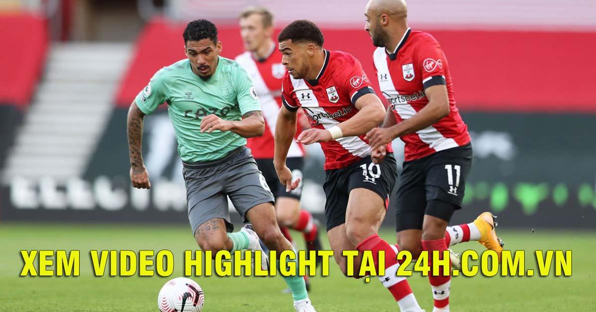 Video highlight trận Southampton - Everton: Thẻ đỏ lãng xẹt, ngôi đầu lung lay