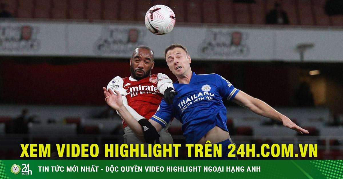 Video highlight trận Arsenal - Leicester City: Sức ép nghẹt thở, khác biệt Vardy