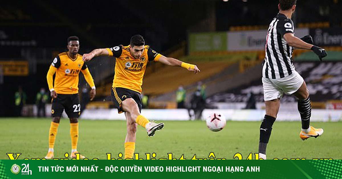 Video highlight trận Wolves – Newcastle: Mở điểm đẳng cấp, phút cuối vỡ òa