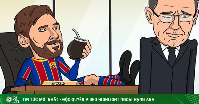 Ảnh chế: Chủ tịch Barca từ chức, Messi vui mừng ra mặt