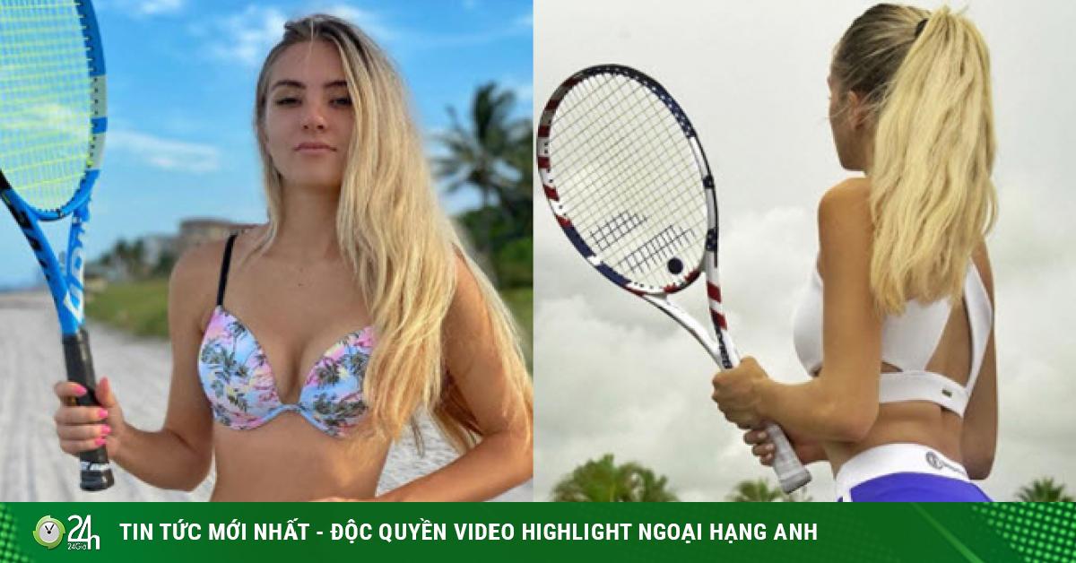 Người đẹp mặc bikini chơi tennis khiến vạn fan đứng ngồi không yên