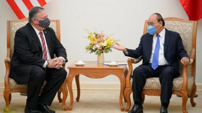 Chùm ảnh: Ông Pompeo gặp gỡ Thủ Tướng và Phó Thủ tướng Việt Nam - 2