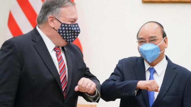 Chùm ảnh: Ông Pompeo gặp gỡ Thủ Tướng và Phó Thủ tướng Việt Nam - 1
