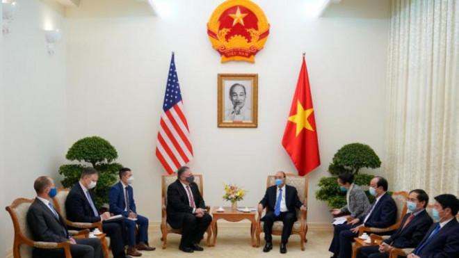 Chùm ảnh: Ông Pompeo gặp gỡ Thủ Tướng và Phó Thủ tướng Việt Nam - 3