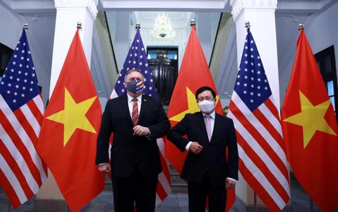 Chùm ảnh: Ông Pompeo gặp gỡ Thủ Tướng và Phó Thủ tướng Việt Nam - 5