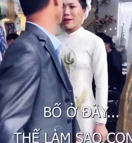 Cô dâu mè nheo đòi bố ở lại sau đám cưới, ông bố nói một câu khiến cả hôn trường bật cười - 1