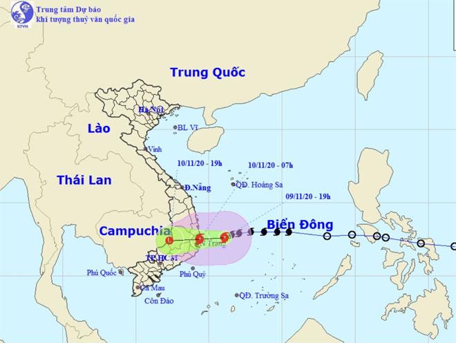 Bão số 12 tăng cấp áp sát đất liền, miền Trung mưa to từ đêm nay (9/11) - hình ảnh 1