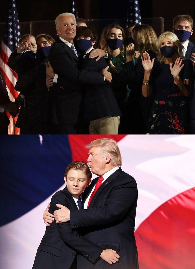 Cháu trai Joe Biden tuổi 14 điển trai, cao 1m8 nhưng dân mạng vẫn mê quý tử của ông Trump - hình ảnh 1